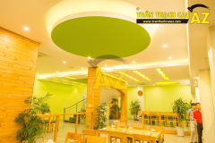 Mẫu trần thạch cao nhà hàng đẹp 02