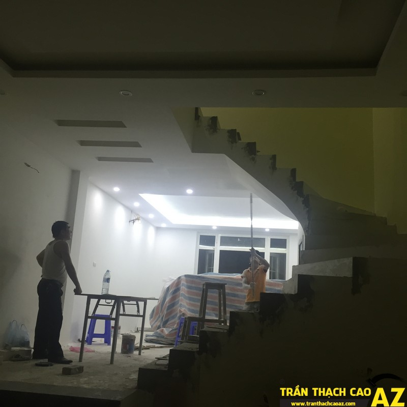 Trần thạch cao nhà chú Tiến khu biệt thự nhà vườn 4 – KĐT Yên Xá 01