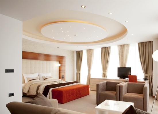 Mẫu thiết kế trần thạch cao cho phòng ngủ 01