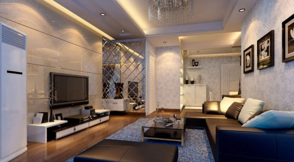 Plaster-ceiling-living-room