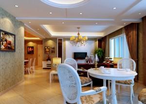 White-plaster-ceiling-for-living-room