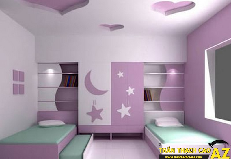 Trần thạch cao phòng trẻ em dễ thương-03