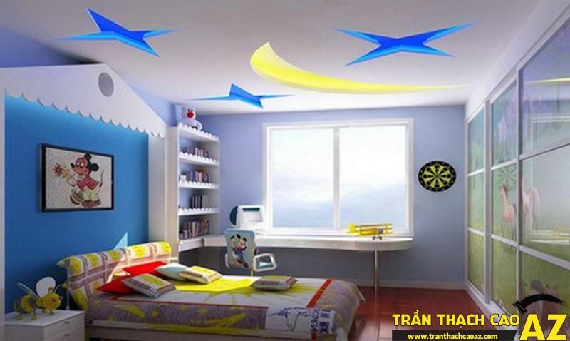 Trần thạch cao phòng trẻ em dễ thương-02