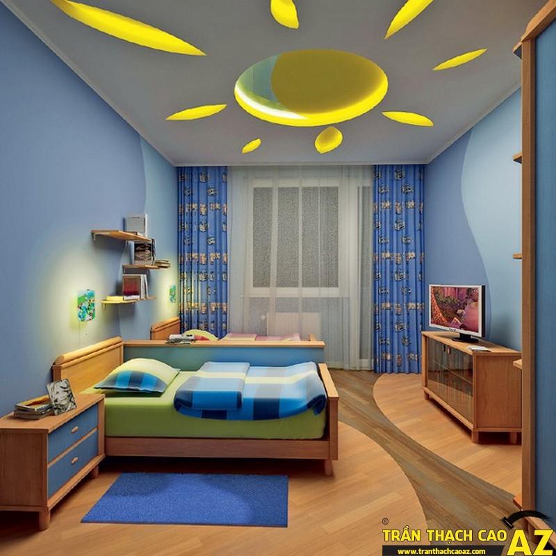Trần thạch cao phòng trẻ em dễ thương-01