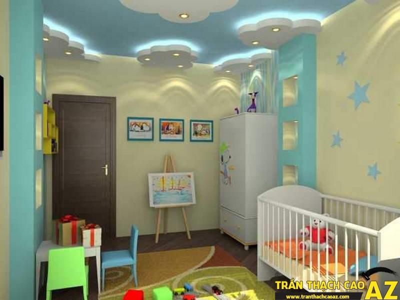 Trần thạch cao phòng trẻ em dễ thương-04