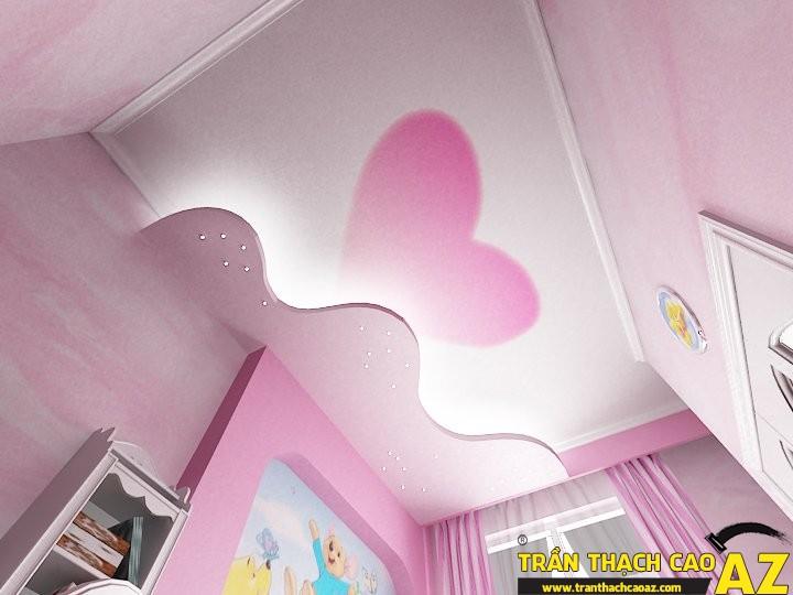Mẫu trần thạch cao phòng ngủ công chúa cho bé 06