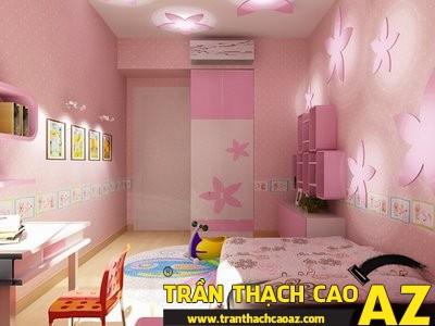 Mẫu trần thạch cao phòng ngủ công chúa cho bé 08