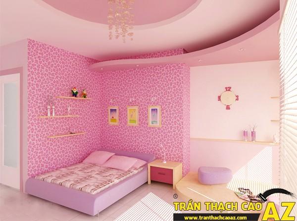 Mẫu trần thạch cao phòng ngủ công chúa cho bé 09