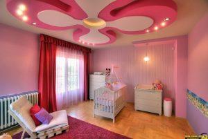 Mẫu trần thạch cao phòng ngủ công chúa cho bé