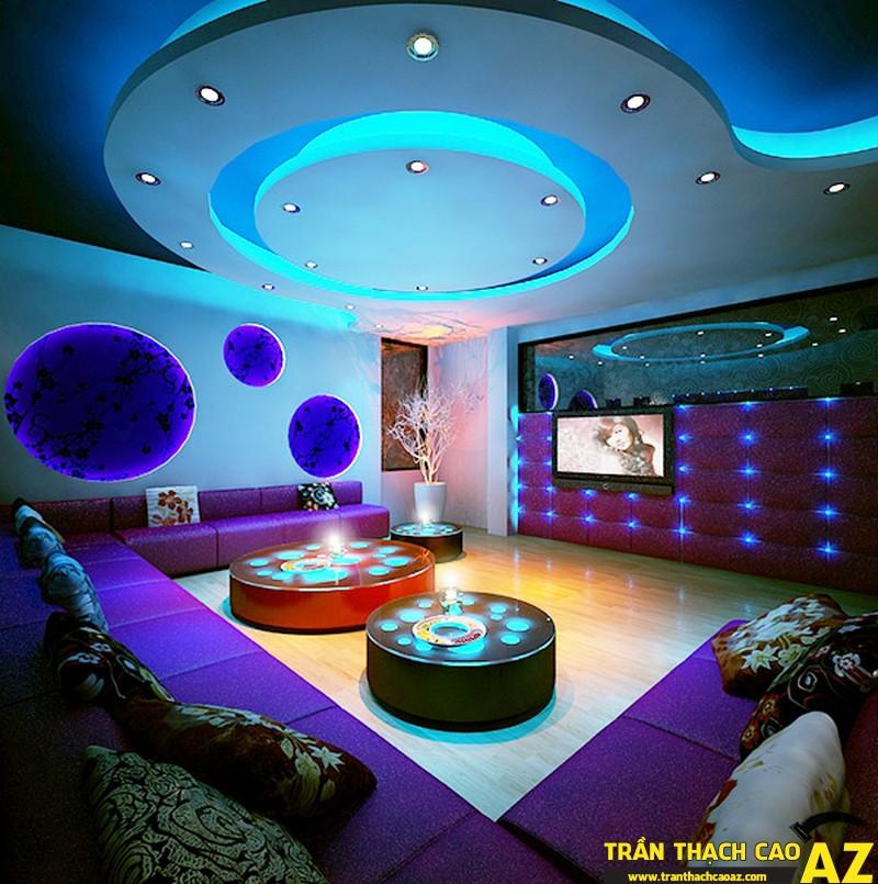 Trần thạch cao phòng karaoke đẹp _02