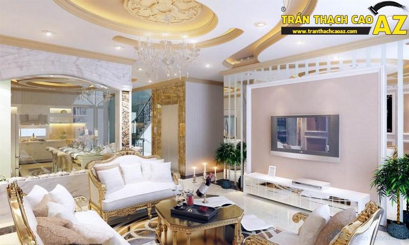 Mẫu trần thạch cao phòng khách đẹp - 10