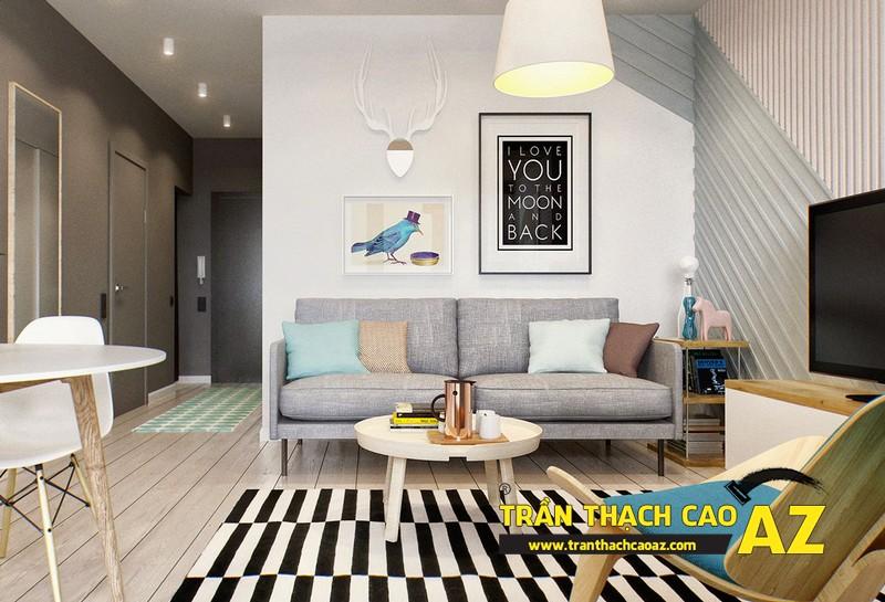 Không gian sống đẹp mê ly với thiết kế trần thạch cao 04