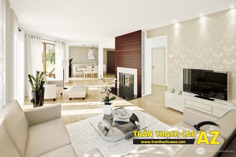 Không gian sống đẹp mê ly với thiết kế trần thạch cao 03