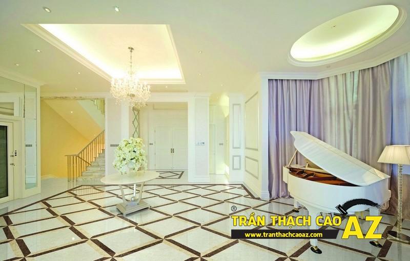 Không gian sống đẹp mê ly với thiết kế trần thạch cao 05