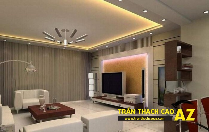 Không gian sống đẹp mê ly với thiết kế trần thạch cao 10