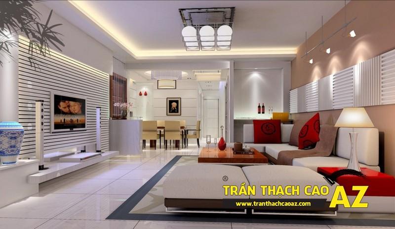 Không gian sống đẹp mê ly với thiết kế trần thạch cao 09