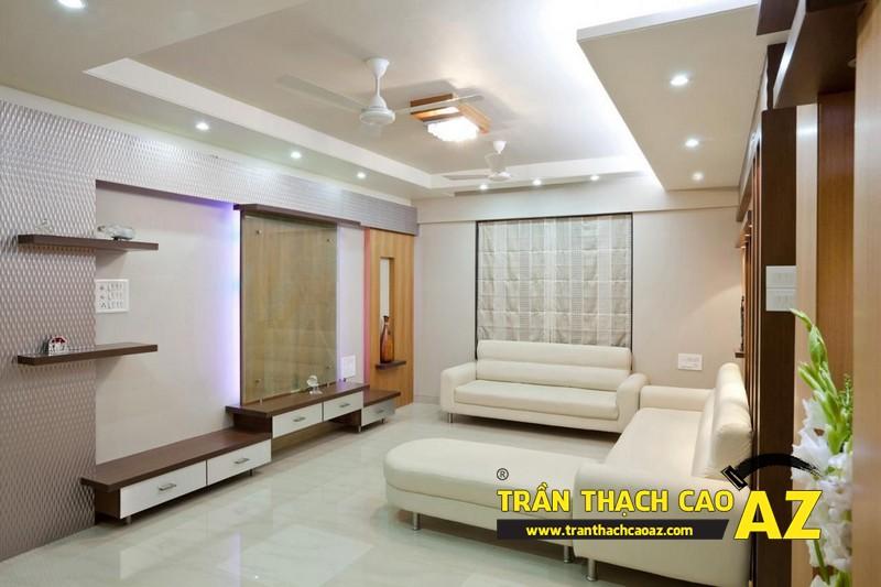 Không gian sống đẹp mê ly với thiết kế trần thạch cao 08