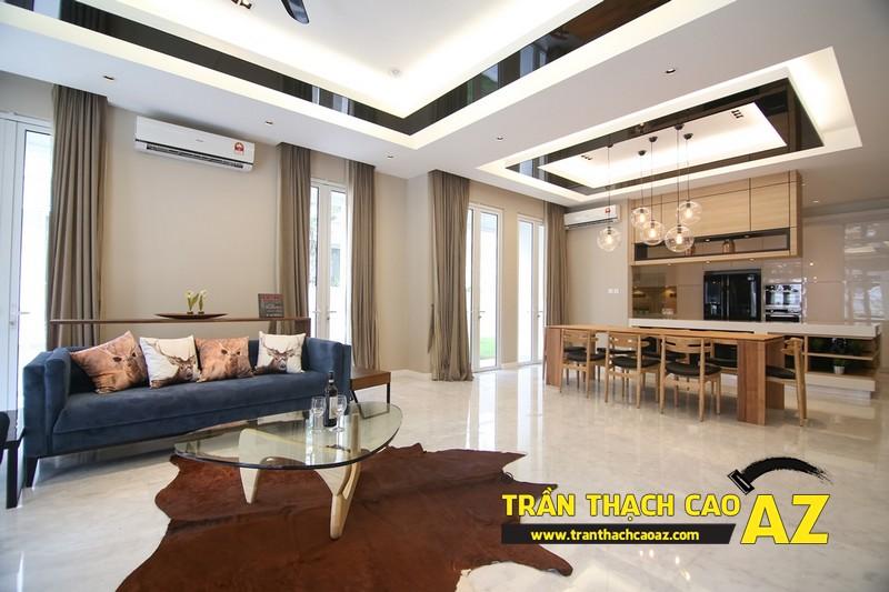Mẹo giúp bạn sở hữu phòng khách đẹp hơn cả ý muốn với trần thạch cao 02
