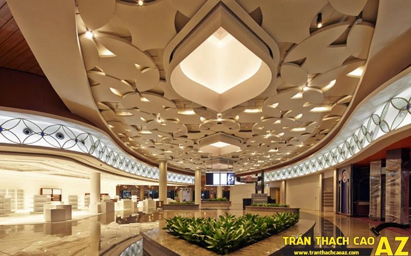 Những thiết kế đèn trang trí ở trần thạch cao 05