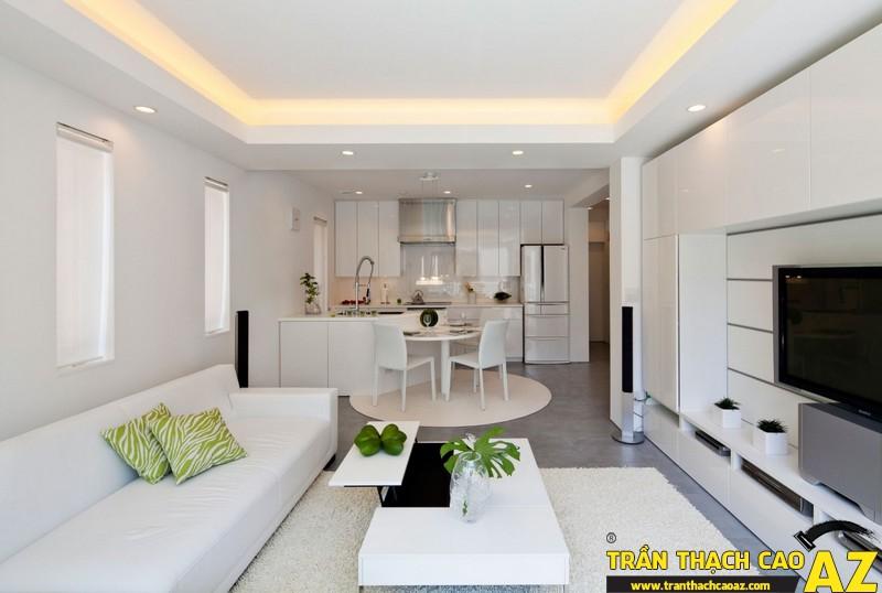Trần thạch cao và nội thất hiện đại cho không gian nhà đẹp
