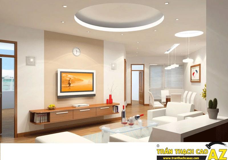 Trần thạch cao, vách thạch cao không những chống nóng tốt mà còn mang lại vẻ đẹp lộng lẫy cho ngôi nhà