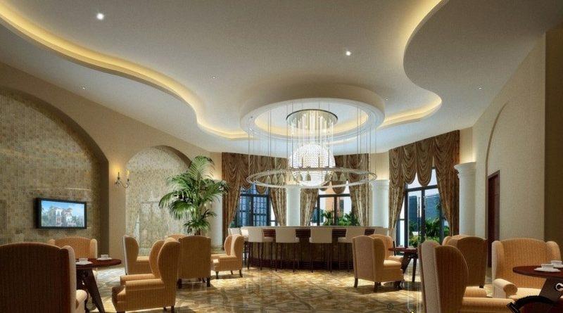 Trần thạch cao giật cấp - lựa chọn tối ưu trong thiết kế phòng khách