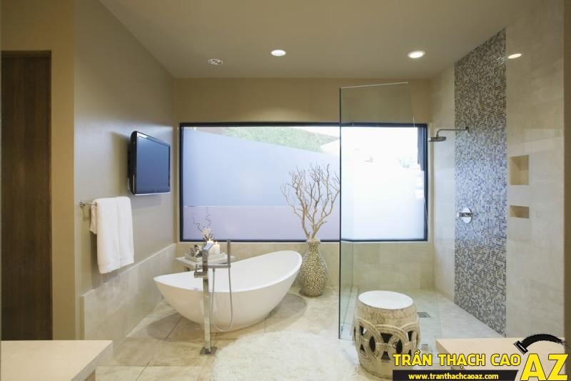 Chọn trần thạch cao phòng tắm chống nước, chống ẩm tốt