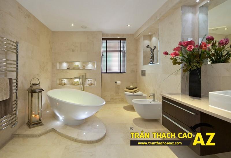 Trần thạch cao chịu nước - sự lựa chọn hoàn hảo dành cho phòng tắm 01