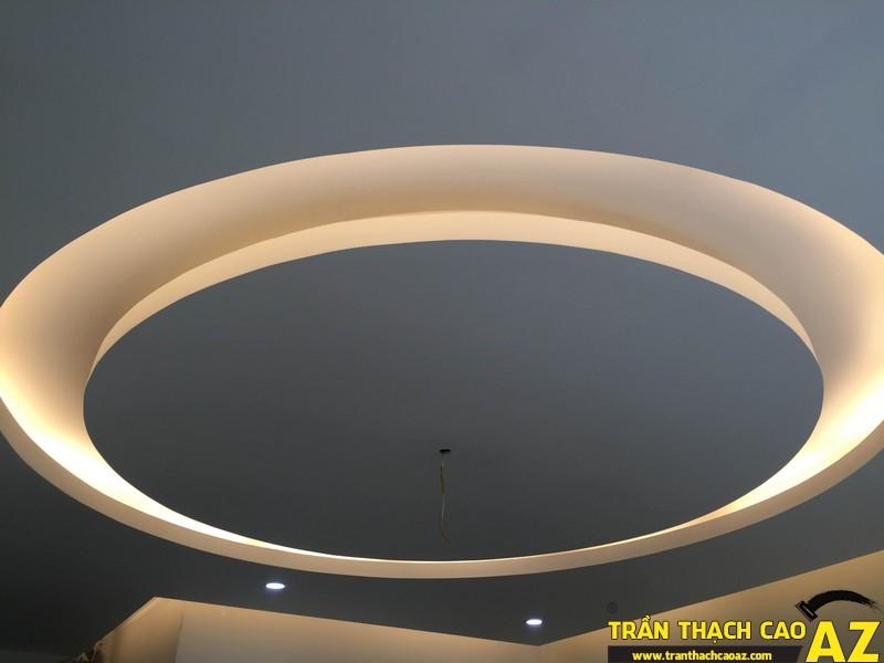 Thi công trần thạch cao nhà chị Trang 02