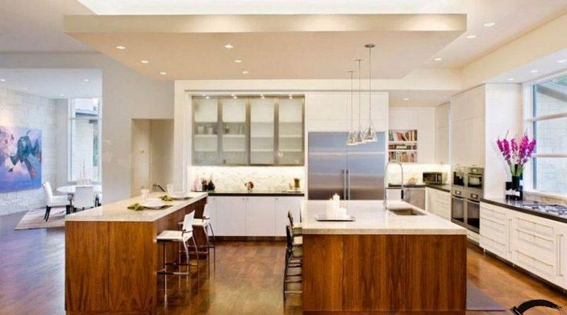 Trần thạch cao phòng bếp sang trọng, hiện đại