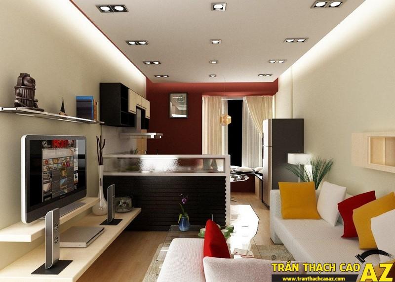 Trần thạch cao phòng khách nhỏ - 01