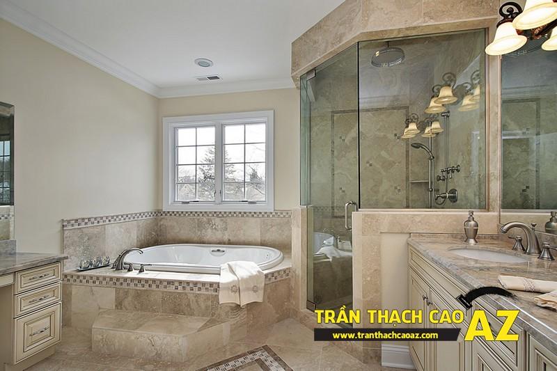 """Mẫu thiết kế trần thạch cao phòng tắm """"sang chảnh"""" 04"""