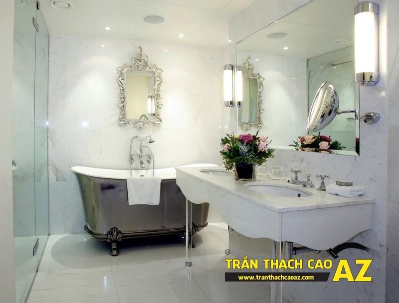 """Mẫu thiết kế trần thạch cao phòng tắm """"sang chảnh"""" 09"""