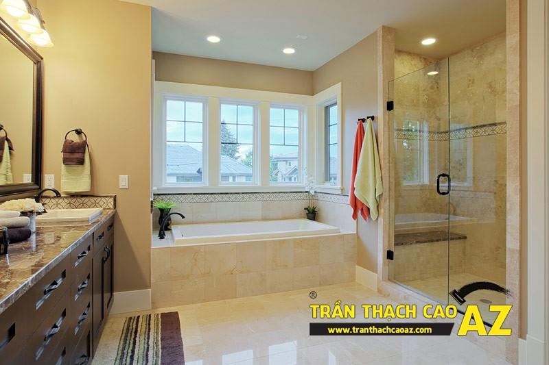"""Mẫu thiết kế trần thạch cao phòng tắm """"sang chảnh"""" 05"""
