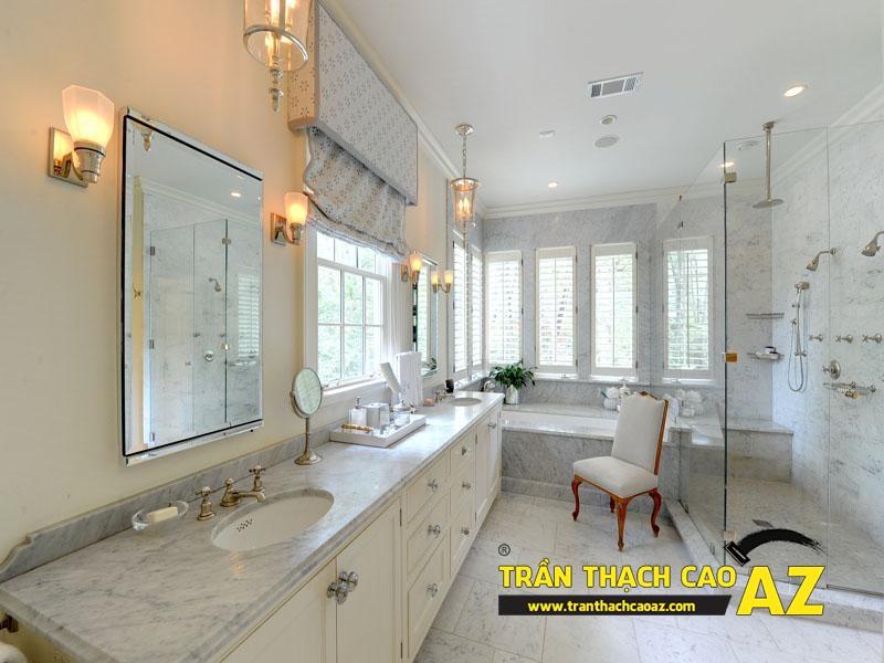 """Mẫu thiết kế trần thạch cao phòng tắm """"sang chảnh"""" 01"""