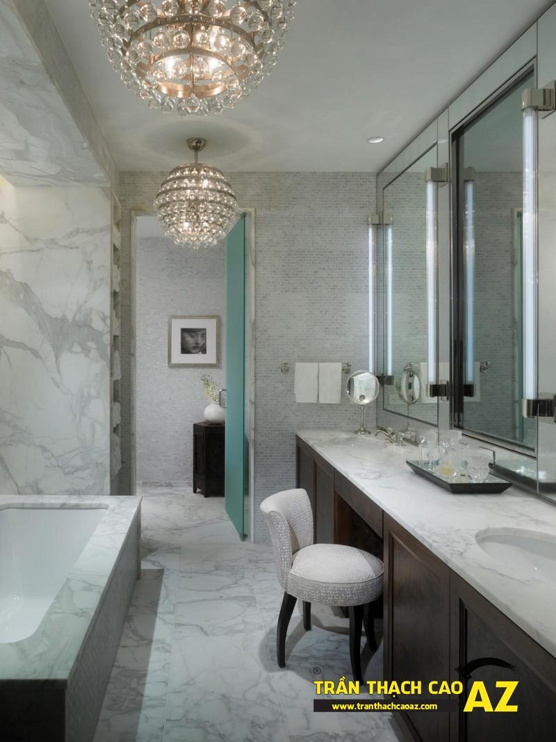"""Mẫu thiết kế trần thạch cao phòng tắm """"sang chảnh"""" 07"""