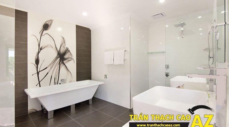 """10 ý tưởng thiết kế phòng tắm """"sang chảnh"""" nhất với trần thạch cao"""