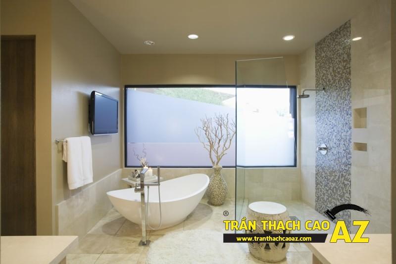 """Mẫu thiết kế trần thạch cao phòng tắm """"sang chảnh"""" 08"""