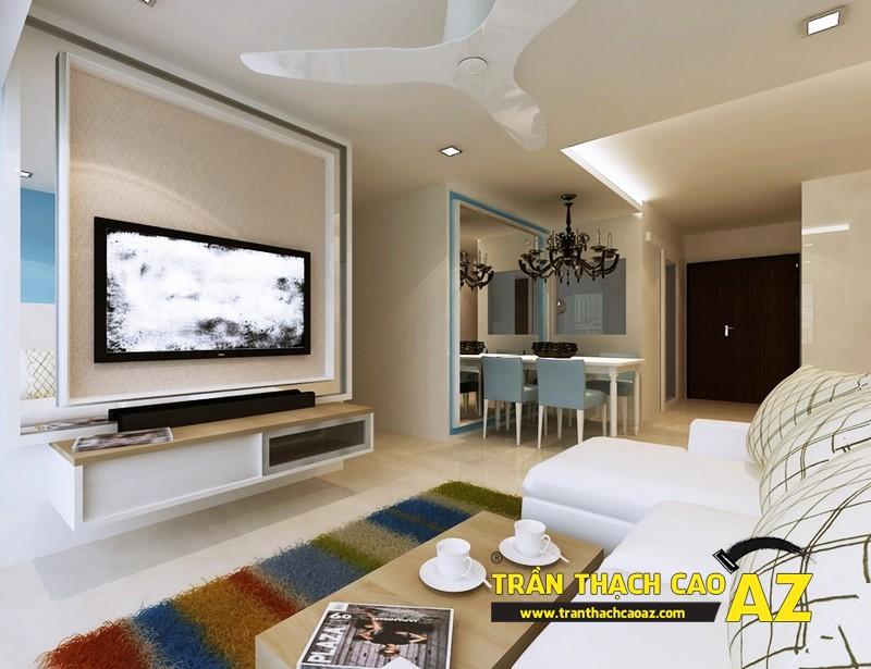 Những nguyên tắc cơ bản khi chọn mẫu trần thạch cao phòng khách 01
