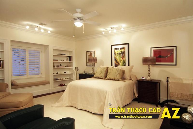 """Bí kíp chọn thiết kế trần thạch cao phòng ngủ theo """"chuẩn"""" phong thủy 02"""