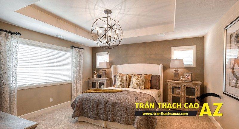 """Bí kíp chọn thiết kế trần thạch cao phòng ngủ theo """"chuẩn"""" phong thủy"""
