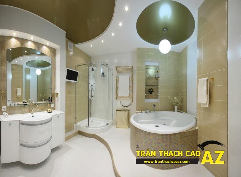 Kinh nghiệm chọn thiết kế trần thạch cao phòng tắm