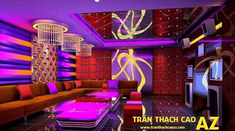 Những điểm cộng đáng ao ước của thiết kế trần thạch cao phòng karaoke