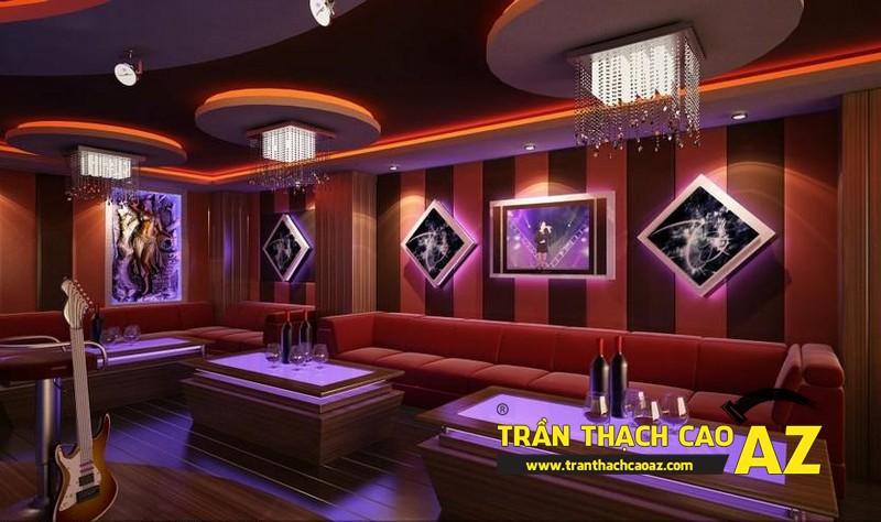Những điểm cộng đáng ao ước của thiết kế trần thạch cao phòng karaoke 02