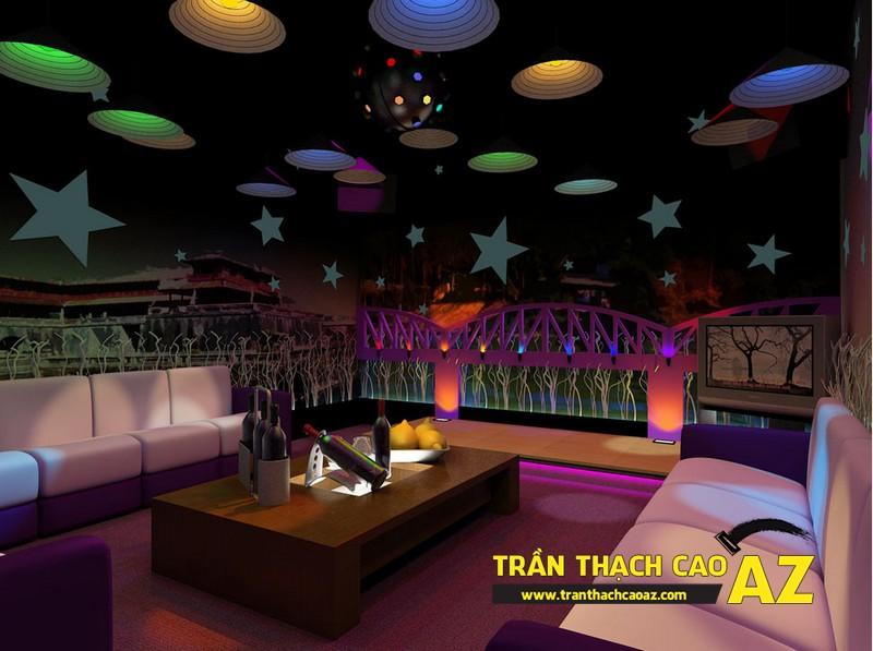 Những điểm cộng đáng ao ước của thiết kế trần thạch cao phòng karaoke 03