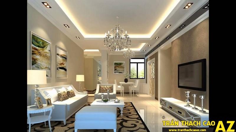 Những mẫu trần thạch cao phòng khách đẹp nhất hiện nay 03