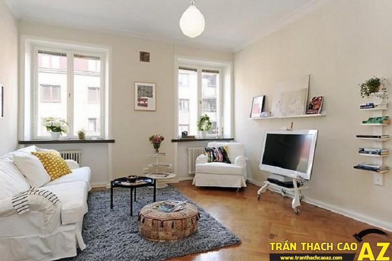 Những mẫu trần thạch cao phòng khách đẹp nhất hiện nay 04