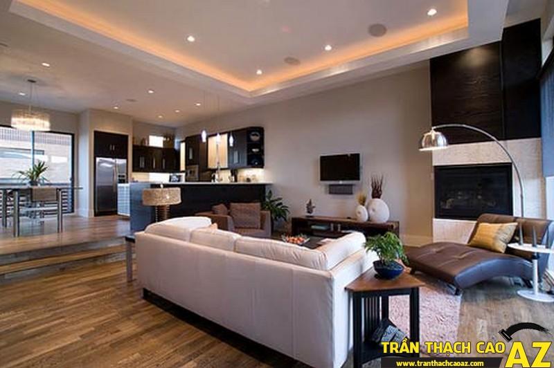 Những mẫu trần thạch cao phòng khách đẹp nhất hiện nay 05