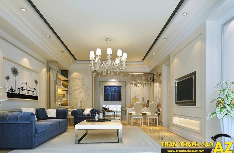 Những mẫu trần thạch cao phòng khách đẹp nhất hiện nay 07
