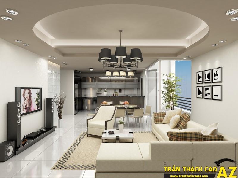 Những mẫu trần thạch cao phòng khách đẹp nhất hiện nay 08